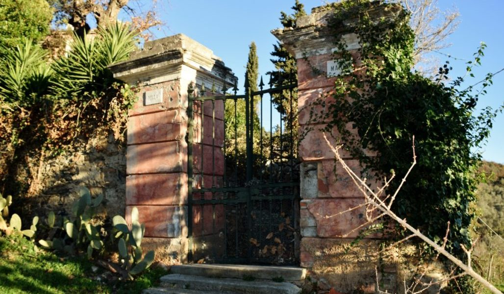 OLD ENTRANCE TO  BOUTIQUE B&B RESORT NEAR THE ITALIAN RIVIERA